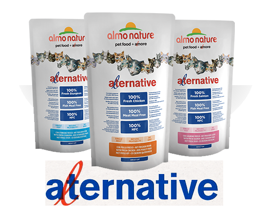Almo Nature Cat Dry Alternative Label