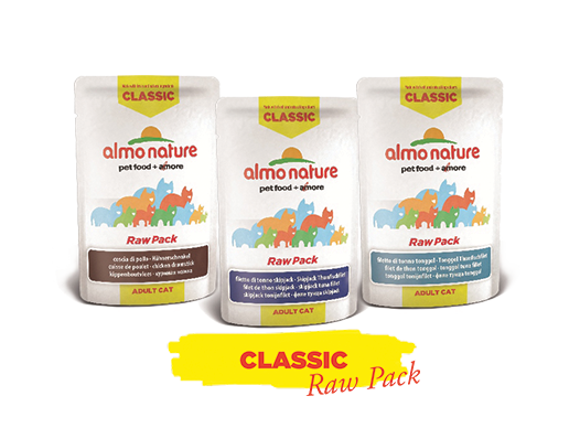 Almo Nature Cat Wet Classic Raw Pack Label