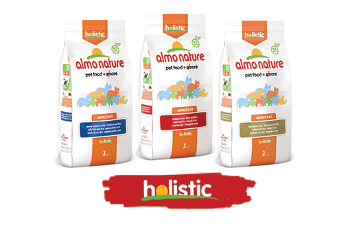 Almo Nature Cat Dry Holistic Label