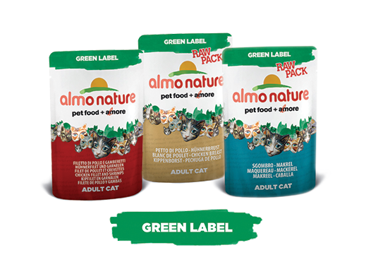 Almo Nature Cat Wet Green Label