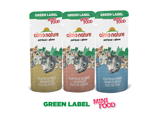 Almo Nature Cat Wet Green Mini Food Label