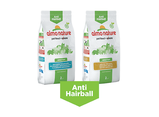 Almo Nature Cat Dry Anti Hairball Label