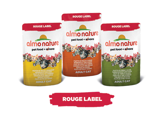 Almo Nature Cat Wet Rouge Label