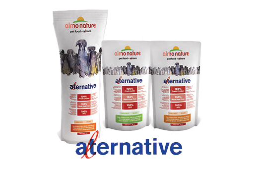 Almo Nature Dog Dry Alternative Label