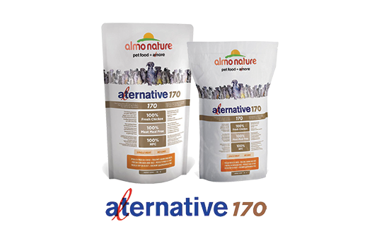 Almo Nature Dog Dry Alternative 170 Label